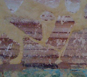 Mur peint délavé