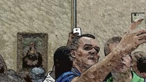 Selfie con Monalisa